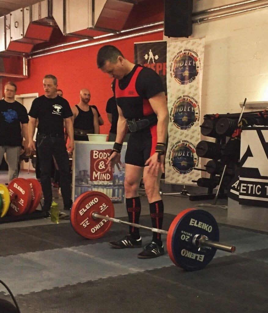 Deutsche Meisterschaften 2018 im Powerlifting, Deadlift 1.Veruch 165kg, Kraftsport im Alter